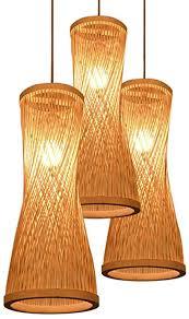 Voir plus d'idées sur le thème abat jour, abat jour lampe, abat. Vistania Lustre Bambou En Osier Rotin Bugle Abat Jour Pendentif Luminaire Rustique Suspendu Lampe 3head Amazon Fr Cuisine Maison