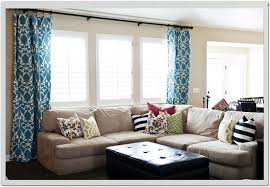 ... Window Treatment Ideas For Living Rooms Home Glass Windows Withwhite  Blinds And White Blue Colors Damask ...