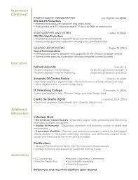 Graphic Artist Resume Examples Graphic Design Resume Sample