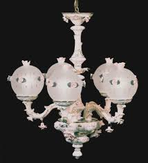 capodimonte made in italy chandelier 65 arms white