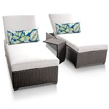 sail white classic chaise set of 2 outdoor wicker patio furniture with side table