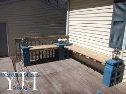 diy cinder block outdoor furniture. Then I Made A Second Bench Just Like The First One, Bit Longer Diy Cinder Block Outdoor Furniture O