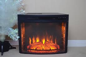 free standing insert wood flame electric firebox fireplace
