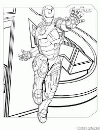 Iron Man From The Avengers Coloring