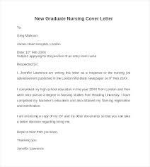 New Grad Nurse Cover Letter Sample Nursing Cover Letter Template