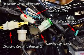 tt250 electrical system tutorial csc motorcycles the two 12v underseat accessory outlet connectors are also on the left side of the motorcycle these are controlled by the handlebar mounted switch and they