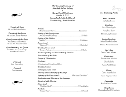 sample wedding ceremony program free printable wedding programs templates wedding program sample