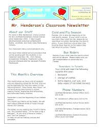 Education Newsletter Templates Kindergarten Newsletter Template