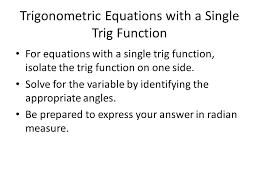 3 trigonometric equations