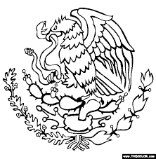 Small Picture Coat Of Arms of Mexico Online Coloring Page