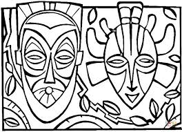 Small Picture African Masks coloring page Free Printable Coloring Pages