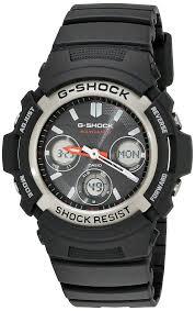 amazon com g shock awgm100 1acr men s tough solar atomic black amazon com g shock awgm100 1acr men s tough solar atomic black resin sport watch casio watches