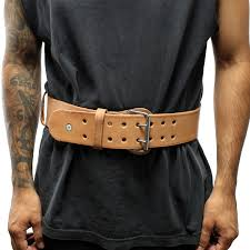 last punch 6 new leather weight lifting belt padded power good quality all sizes