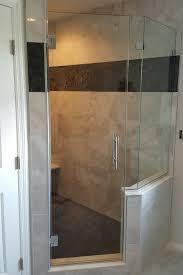 neo angle shower door frameless knee wall