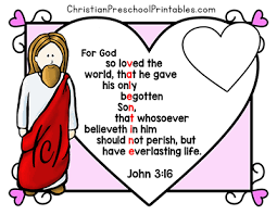 Valentines Day Bible Printables Christian Preschool Printables