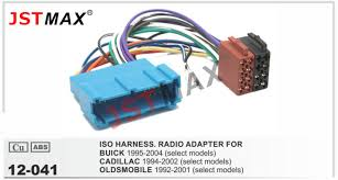 online buy whole cadillac wiring harness from cadillac jstmax car iso radio adapter for generalmotors 1992 wire cable wiring harness adaptor connector plug