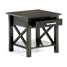 Patio Furniture Kitchener Simpli Home Kitchener Dark Walnut Storage End Table 3axcrgl002