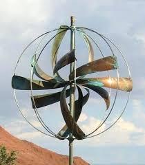 metal spinning yard art metal garden