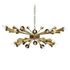 vintage design pre war art deco brass sputnik chandelier fitted with an e27 bulb holder dimensions of the ceiling plate 20 6 x 20 6 cm design