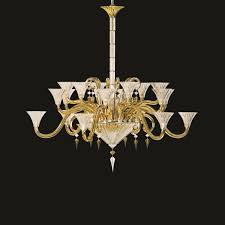 chandelier gold 18 lights baccarat