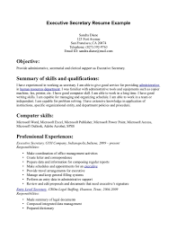 Executive Admin Resume Free Resume Example And Writing Download