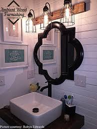 industrial bathroom lighting. Exquisite Industrial Bathroom Vanity Lighting With Regard To Ambient Wood Furnishing