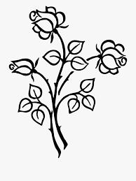 Design Black And White Art White Rose Clipart Lineart Design Flower Line Art