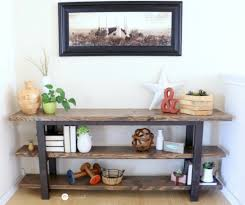 how to build your own diy console table free plans plus picture tutorial mylove2create