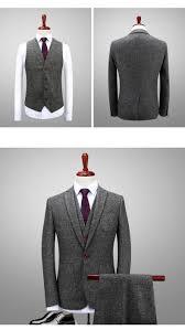 Latest Blazer Designs 2018 2018 Latest Coat Pant Designs Green Gray Tweed Suit Men Slim