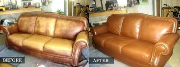 worn leather sofa color restoration how to re couch hardware distressed can you repair