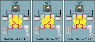 adding a secondary battery battery switch and automatic charging selector switch operation
