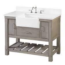 Charlotte 42 Farmhouse Bathroom Vanity With Apron Sink Quartz Top Kitchenbathcollection