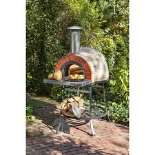 rustic wood fired oven faux brick front by rustic cedar
