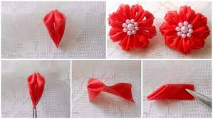 How To Make A Paper Ribbon Flower How To Make A Ribbon Flower Simple Craft Ideas
