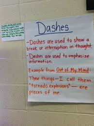 Mentor Sentence Anchor Chart Dashes Anchor Chart Blog Post On How To Use Mentor