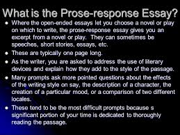 essay writing basics prose response essays ppt video online  what is the prose response essay