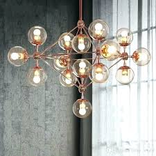 glass ball chandelier diy glass ball chandelier modern re living room light rose gold chandeliers