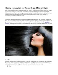 home remes for smooth and shiny hair