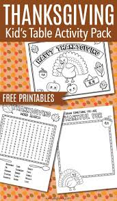 Free Thanksgiving Printables For The Kids