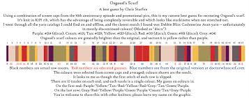 Dr Who Scarf Pattern Enchanting Details Gallifreyan Crochetin'