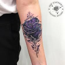 перекрытие короны розой сделано в Inkfactory