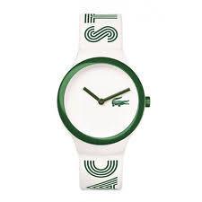 lacoste watch men lacoste men s women s white rubber plastic case mineral glass watch 2020104