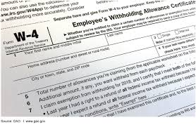 How Do Allowances Affect Withholding U S Gao Federal Tax Withholding Treasury And Irs Should