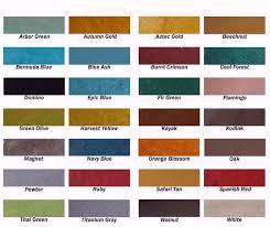 Concrete Stain Color Chart Proactive Lip Reaction
