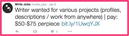 ways to lance writing jobs as a beginner elna cain tweet job