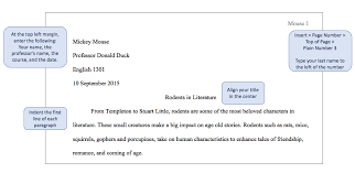 formatting your paper mla style guide for citations th edition first page example