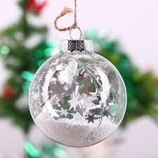Us 258 Weihnachten Glaskugel Christbaumschmuckweiß Schaum Ball Silver Star Stringurlaub Hochzeit Festival Decor Kugel 8 Cm Freeship In