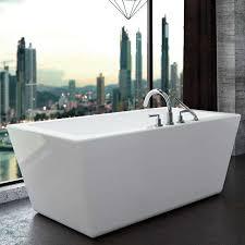 modern rectangle freestanding bath