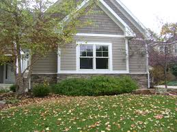 Taupe Exterior White Trim I Wonder If I Could Put Shingling - Farmhouse exterior paint colors