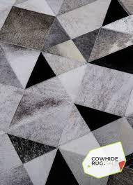 geometric cowhide rug 3